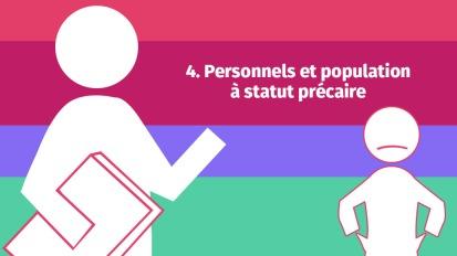 Personnels et population à statutprécaire